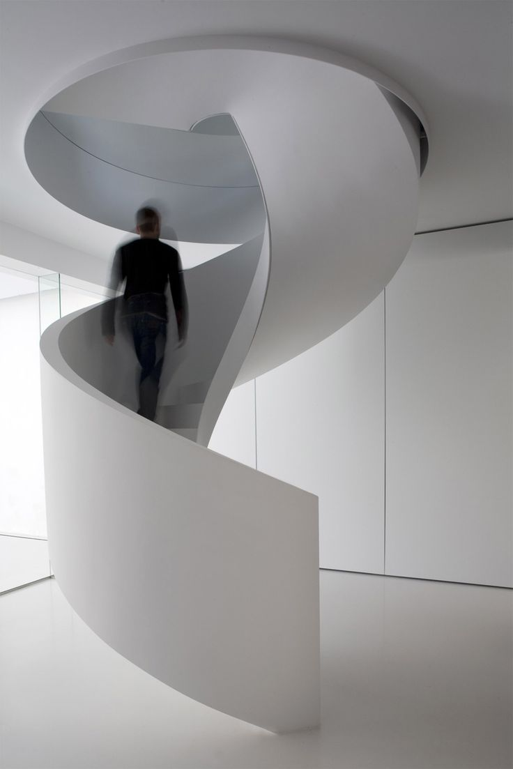 Beautiful spiral staircase by Belgian architects Co.Studio.