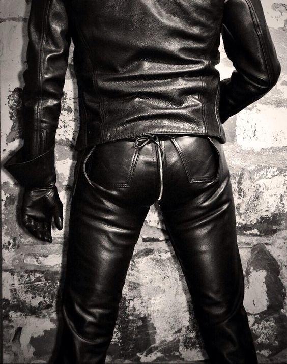 Tight black and shiny