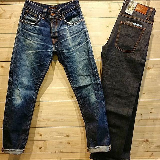 """Nudie Jeans Straight Alf Tonal. Worn for 1 year & washed 1 time"""