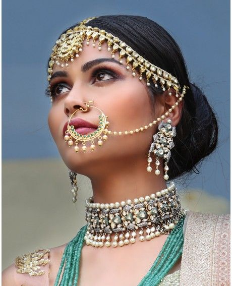 Shikha Choker Necklace Set BY indiatrendshop.com