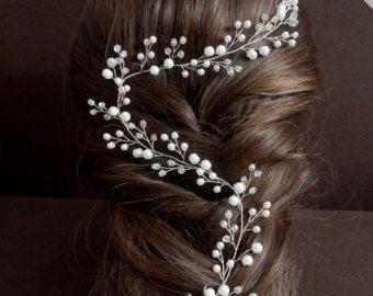 Vid vid largo novia nupcial del pelo tocado de novia por KiCrown