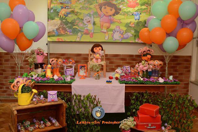 Aconteceu semana passada a festa de aniversário da Isabela em seus 4 aninhos e recheada de amigos da escola e os melhores amigos Dora Aven...