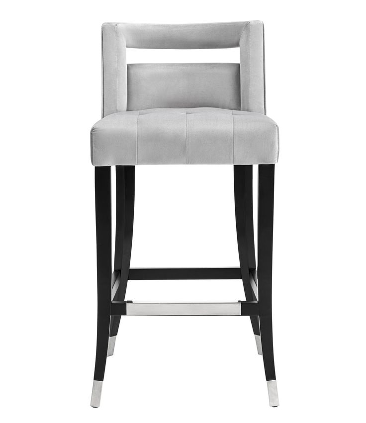 Hart grey velvet counter stool counter stools bar