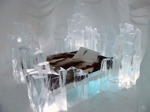 a wintry escape, ice hotels