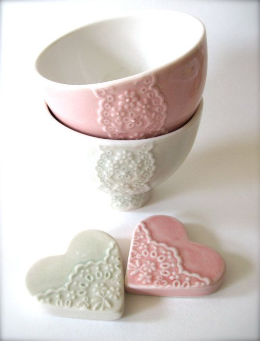 Lovely Wedding Gift Pair of Pink and Pale Green by Hideminy
