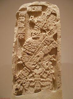 Estela de la región de Calakmul