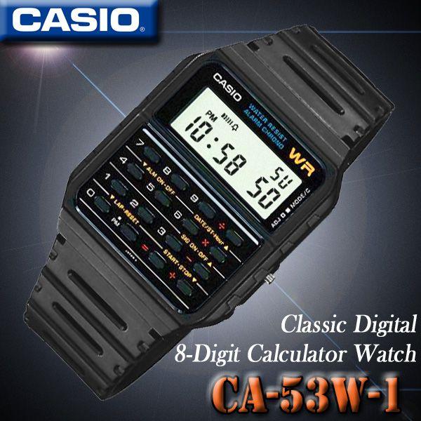 メール便配送180円OK♪在庫有り!即納可「宅配便」で【あす楽対応】CASIO CA-53W-1 カシオ CALCULATOR カリキュレーター 電卓付 腕時計 海外モデル【新品】 | ROOM - my favorites