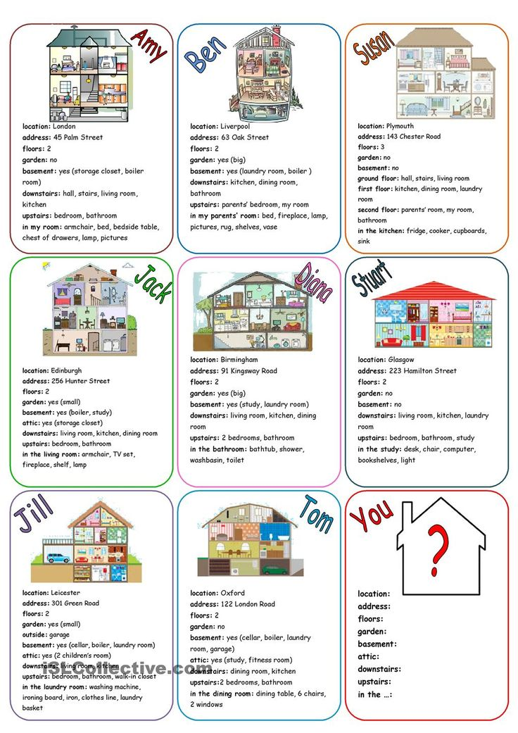 Our House (speaking cards)