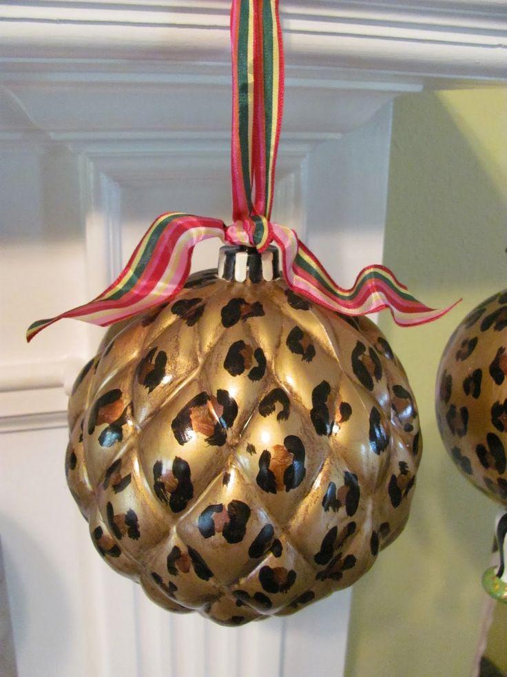 Leopard Decorative Balls Delectable 84 Best Leopard Print Christmas Images On Pinterest  Animal Design Inspiration