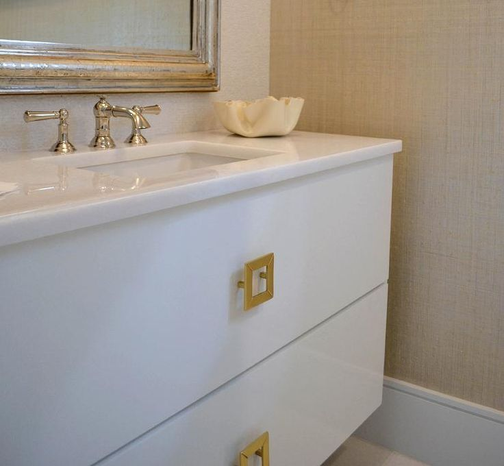 bathroom cabinet pulls floating vanity with square brass knobs bathrooms 11129