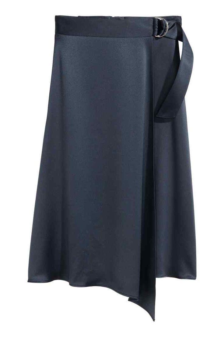 Wrapover satin skirt | H&M