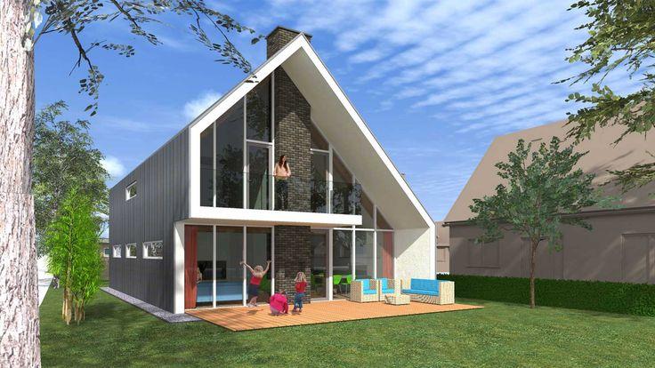 17 beste idee n over moderne architectuur woning op pinterest moderne architectuur moderne for Moderne stijl gevel
