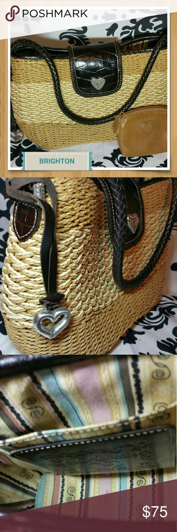 NEW Authentic Brighton Purse with Bonus coin purse Free coin purse included with the purchase of this listing. Both are In like new condition. Brighton Bags Shoulder Bags