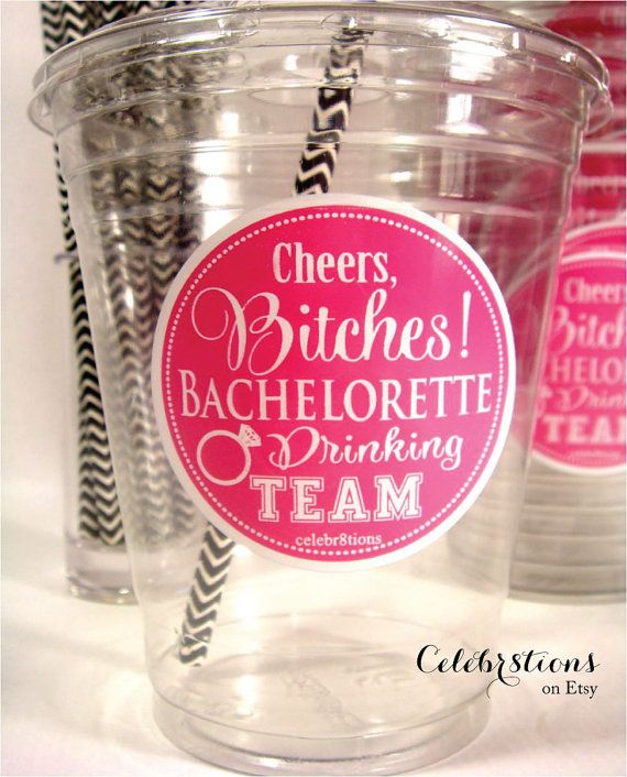 Bachelorette Party, Bachelorette Drinking Team, Cheers Bitches- READY TO SHIP on Etsy, $5.00