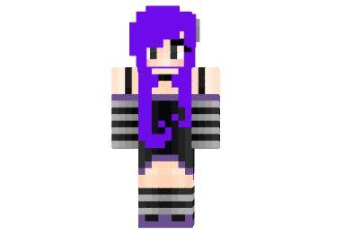 Скины для майнкрафт девушка с фиолетовыми волосами
