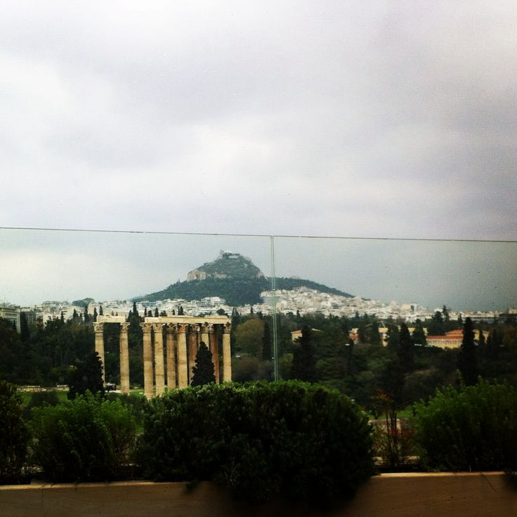 Royal Olympic hotel Athens while drinking coffee at the roof and watching the view... ☕️