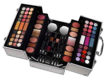 kit completo de maquiagem maleta