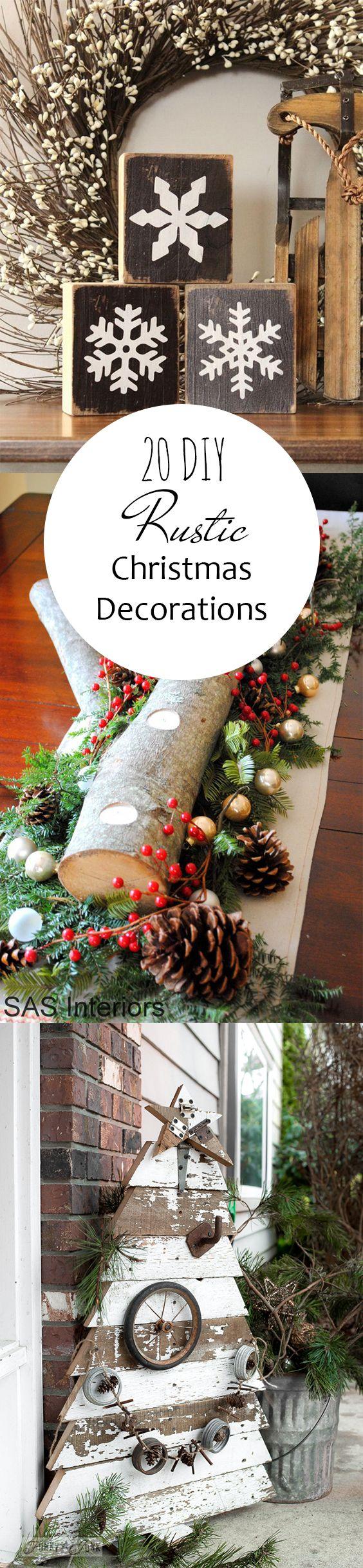 Homemade rustic christmas ornaments - Pin 20 Diy Rustic Christmas Decorations