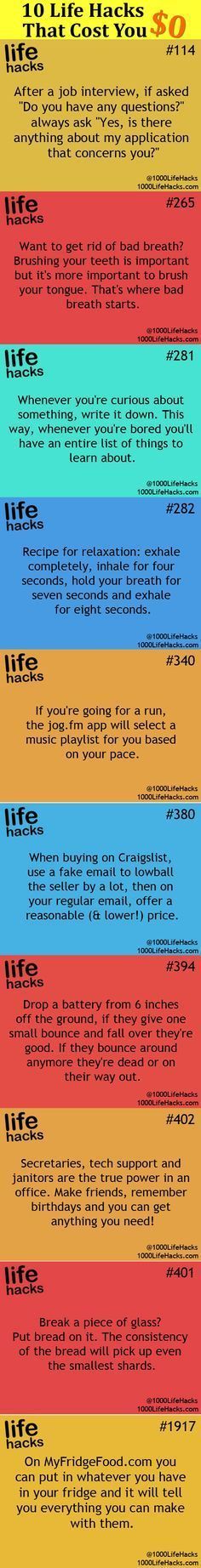 Those 10 selected life hacks include some clever tips to solve bothersome daily…