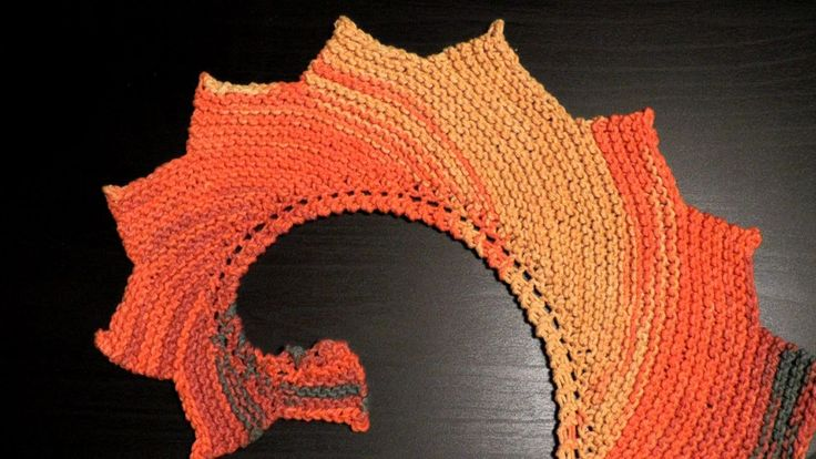 How to knook a dragon tail shawl Katia BELICE