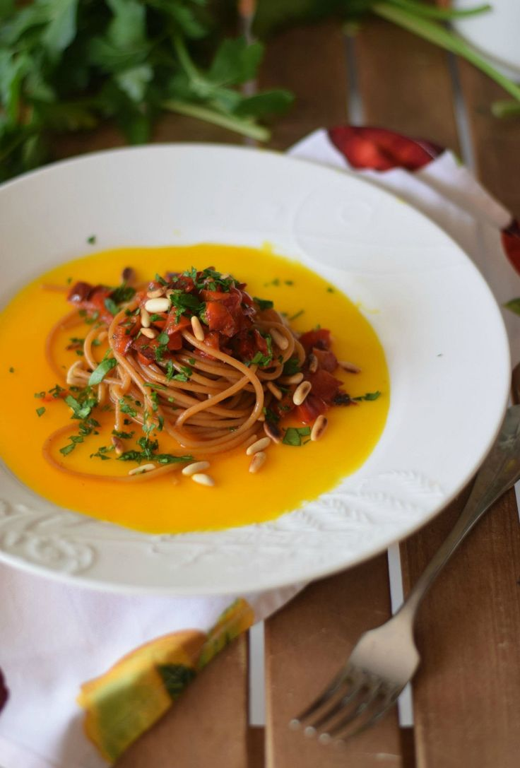 Spaghetti peperoni e zafferano-5