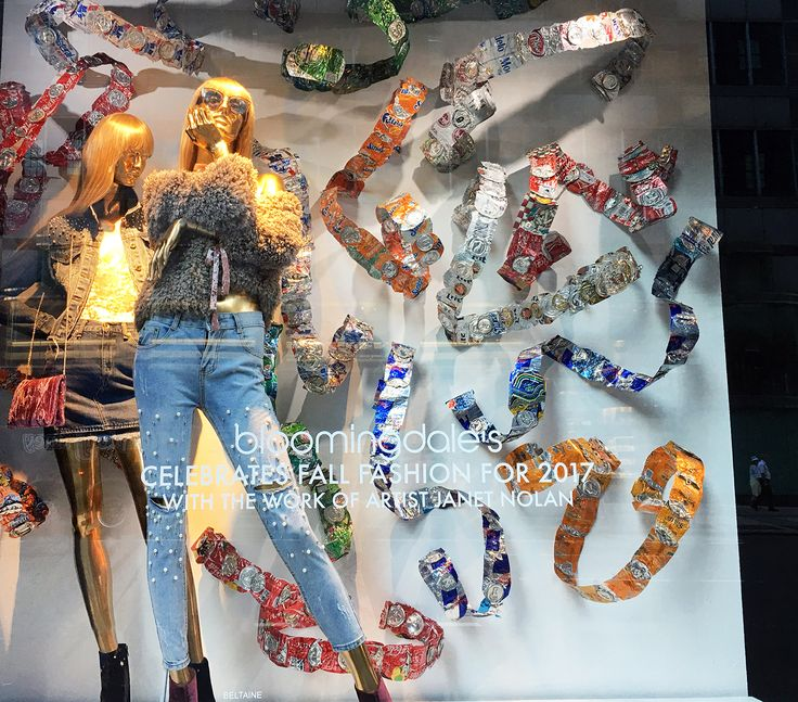 """BLOOMINGDALES, 59th Street, New York, """"Celebrating Fall/Autumn Fashions"""", creative by Janet Nolan, photo by Stylecurated, pinned by Ton van der Veer"""