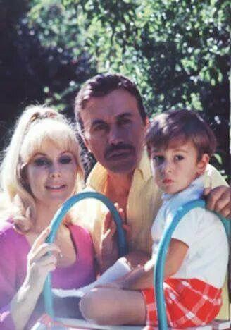 Barbara Eden, Michael Ansara, and son Matthew.