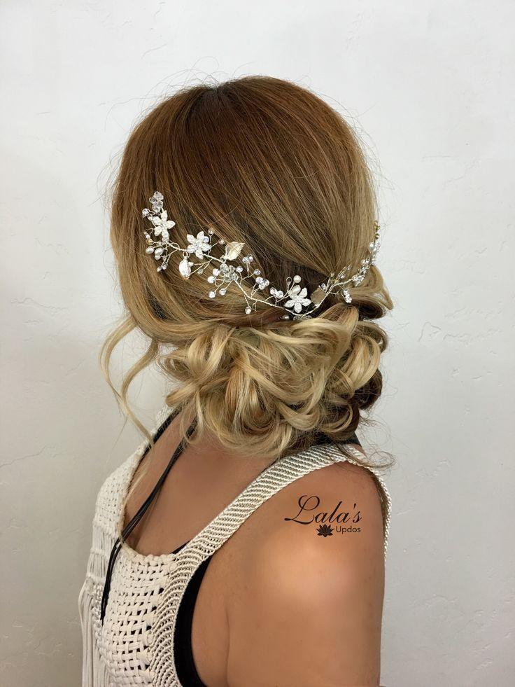 Romantic bridal style/ bridal Upstyle/ bridal hair ...