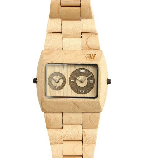 Jupiter Watch by WeWood $135 | WeWood watches are splash proof timepieces, crafted primarily from scrap wood and for every one purchased, the company ensures a new tree spreads roots. Showcase individuality and proclaim eco-friendly status with this unique watch. | GOTSTYLE.ca