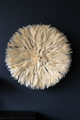 JuJu Hat Feather Wall Hanging - White
