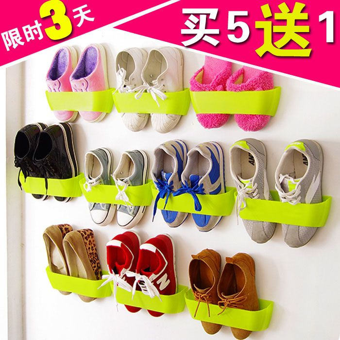 Wall hanging shoe storage hanger door after the walls vertical combination diy shoe hanger three-dimensional bathroom shoe