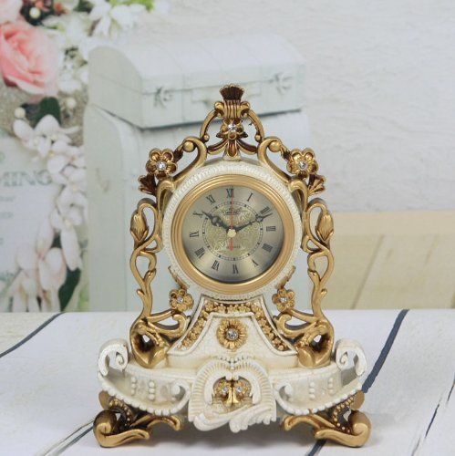 Mantel Antique Vintage Retro Style Decorative Table Clock: Antique Desk  Clocks   Top Clocks