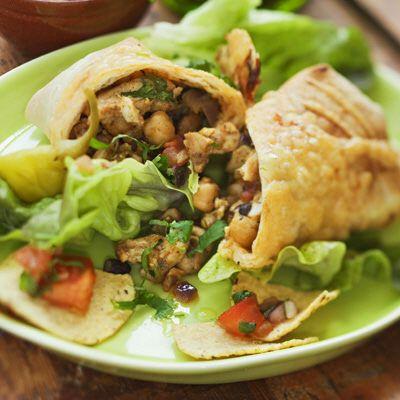 Bild på Burrito med fajitakryddad kyckling