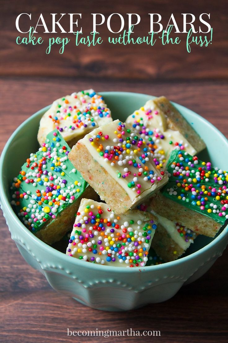 Easy Cake Pop Bars - delicious cke pop taste without the work!