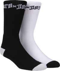 Thrasher Skate And Destroy Socks (2 Pair) - 1 black pair/1 white pair
