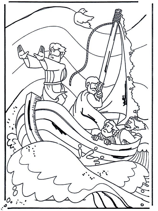 bible coloring pages miracles - photo#7