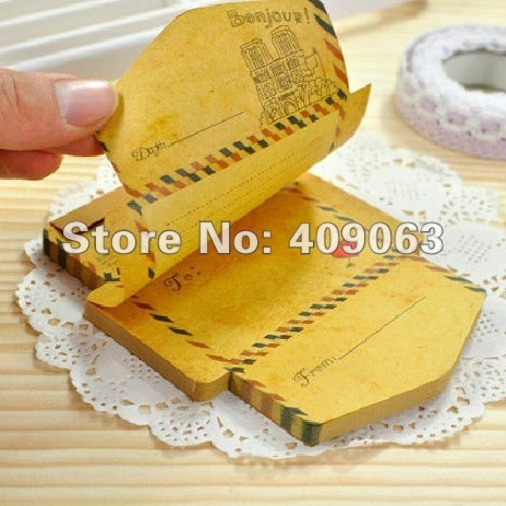 16pcs/lot Creative Antique Romantic Envelop Paper Pad Note Pad Memo Pad Writing Scratchpad Free Shipping-in Memo Pads from Office & School Supplies on Aliexpress.com