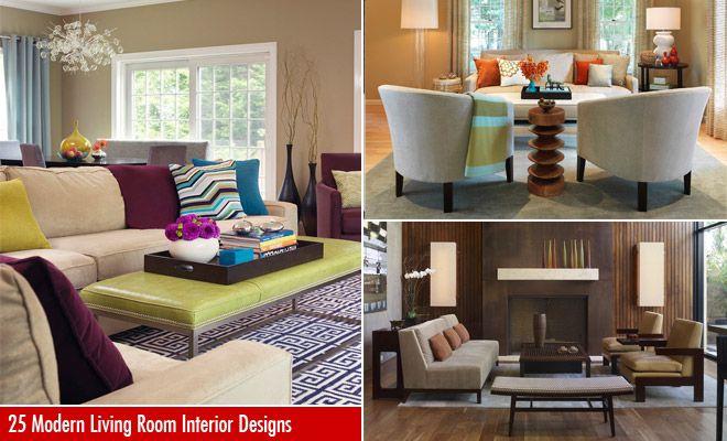 35 beautiful modern living room interior design examples for Room interior design sample