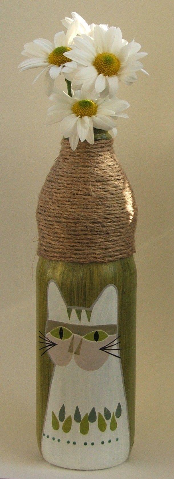 botella pintada amano