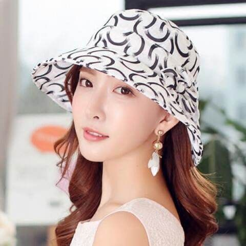 Cheap flower bucket hat for women UV protection sun hats