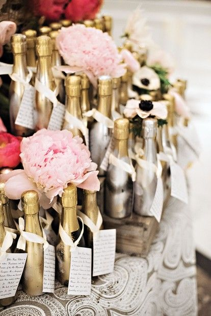 Wedding gift- pyramid of champagne splits