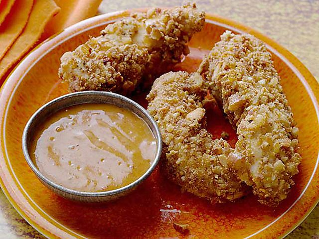 Awesome pretzel chicken tenders with spicy honey dijon sauce awesome pretzel chicken tenders with spicy honey dijon sauce recipe pretzel chicken spicy honey and pretzels forumfinder Images
