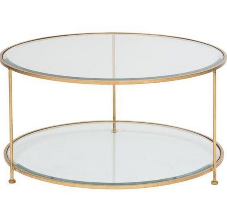 Worlds Away Rollo Gold Coffee Table