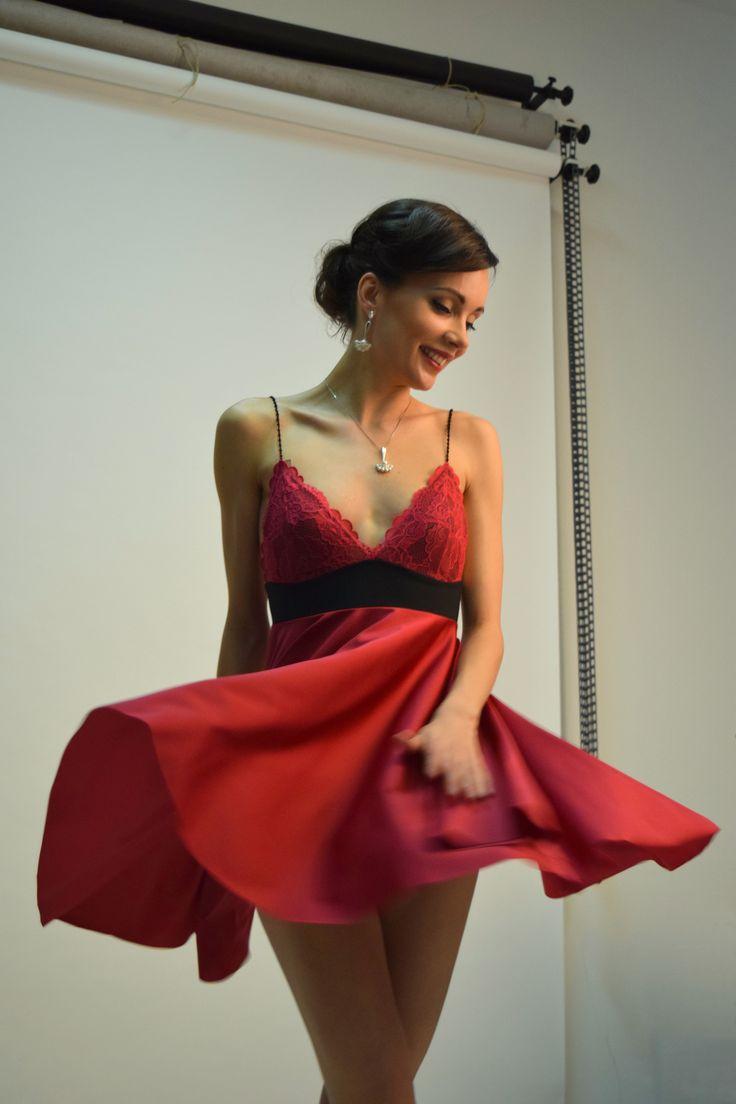 Shooting #red #dress, werk photo