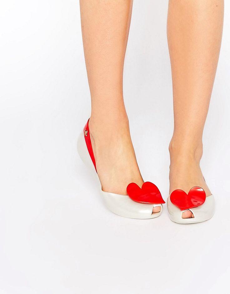 Image 1 - Vivienne Westwood For Melissa - Queen - Chaussures plates avec perles - Rouge
