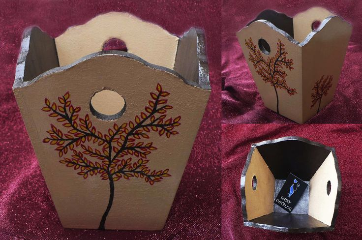 Mini basurero otoño 14,7x13 cm.