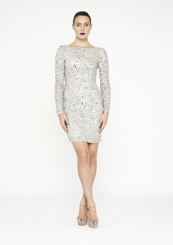 SEQUIN DRESS | Choose a long-sleeved style (a low back is amazing with longer sleeves) and team with classic heels and a statement clutch for a flawless look.
