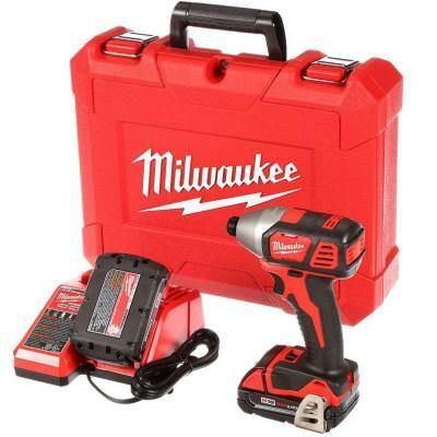 "Milwaukee 2657-22CT M18 18V 2-Speed 1/4"""" Hex Impact Driver CP Kit"