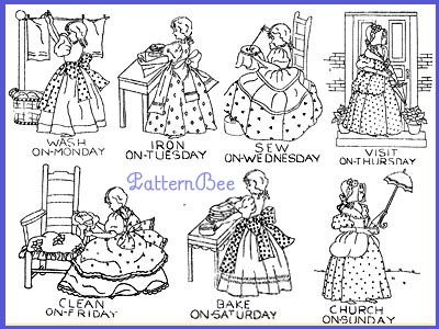 Colonial girl sb54 coloring pages digi stamps magnolia for Colonial coloring pages