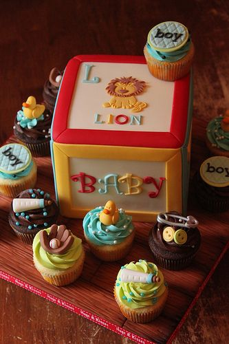 Building block cake with cuppies   Flickr - Photo Sharing!
